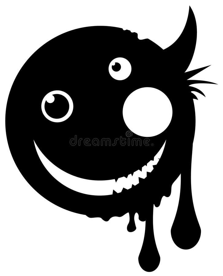 Mutant-glückliche Ikonen-Schablone lizenzfreie abbildung