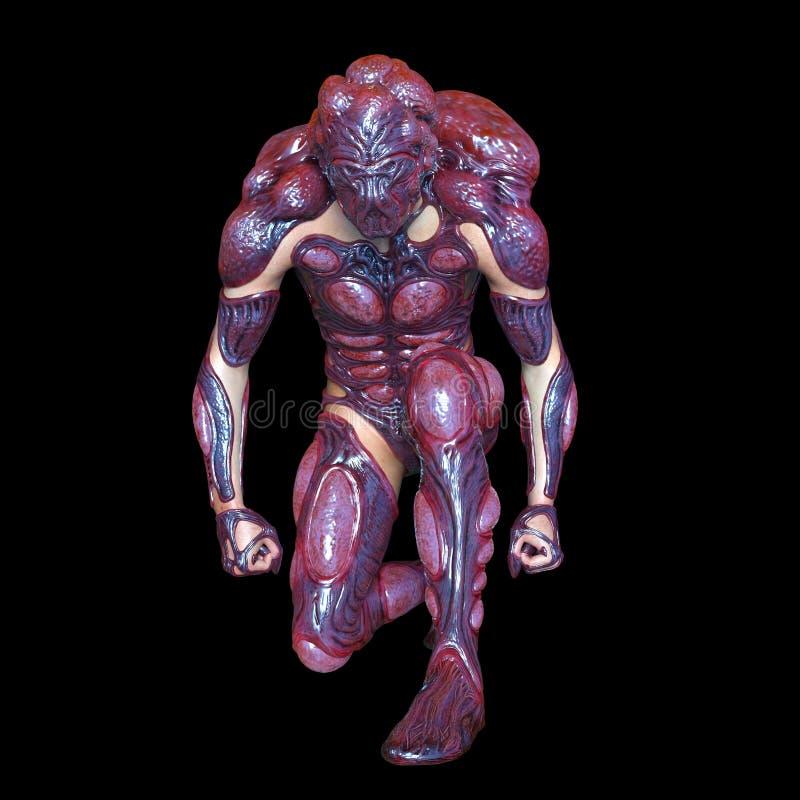 Mutant man. 3D CG rendering of a mutant man royalty free illustration