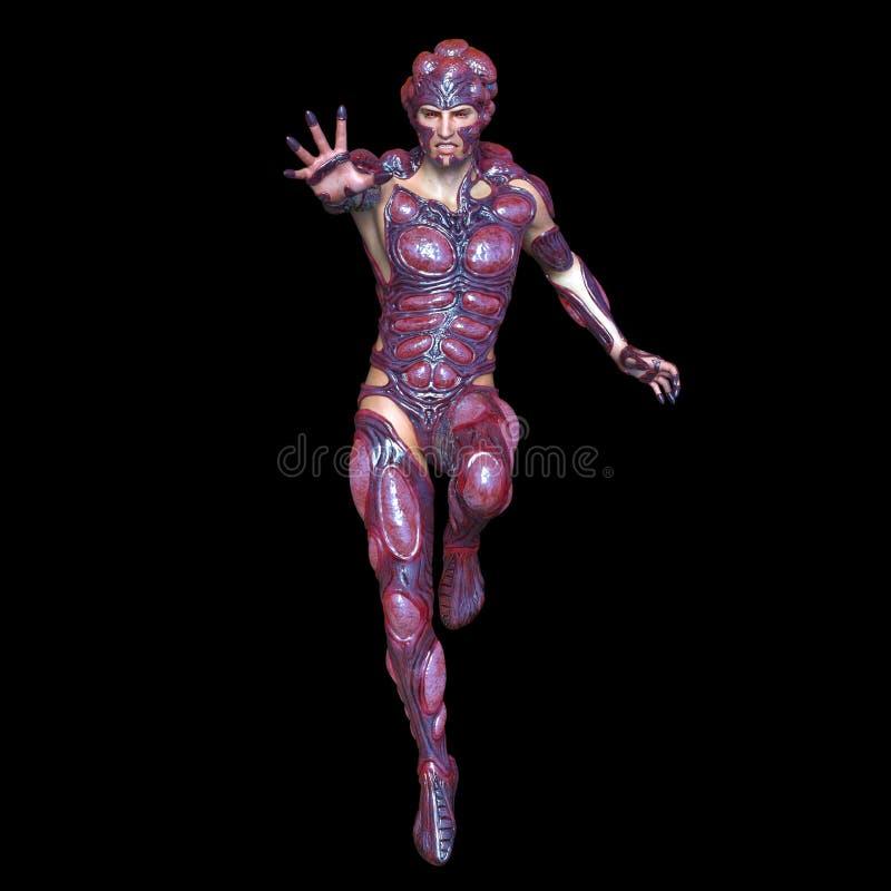 Mutant man. 3D CG rendering of a mutant man vector illustration
