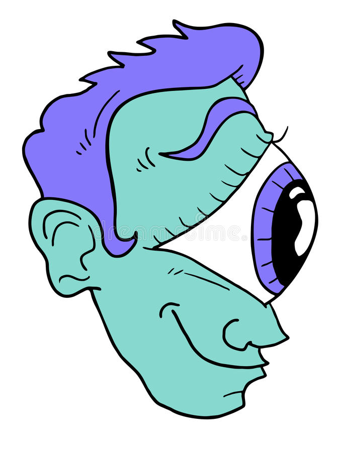 Mutant twarz royalty ilustracja