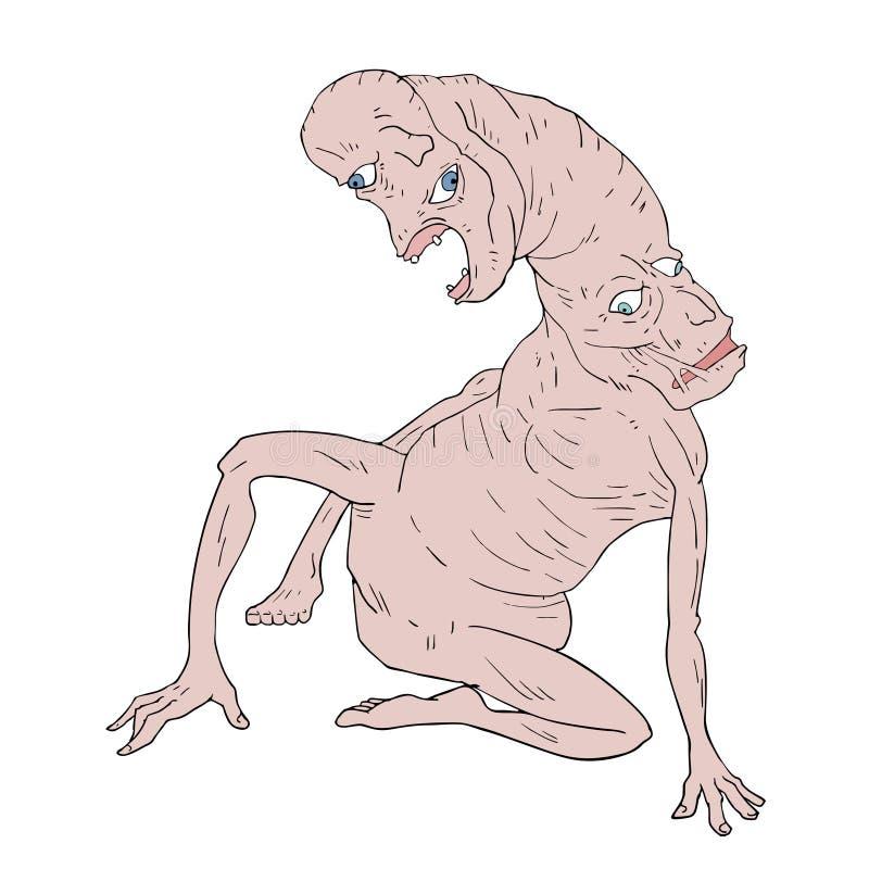Mutanta potwora ilustracja royalty ilustracja