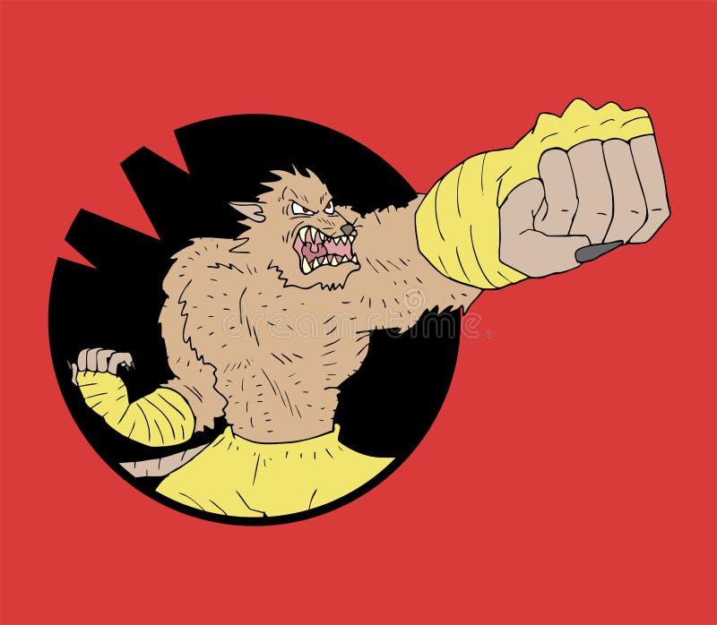 Mutanta szczura wojownik royalty ilustracja