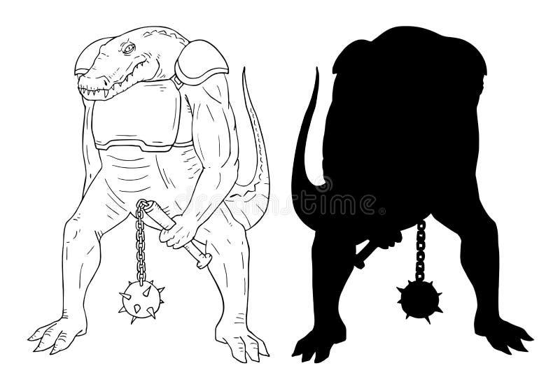 Mutante del coccodrillo illustrazione di stock