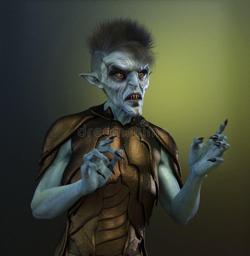 Mutante o straniero umano illustrazione di stock