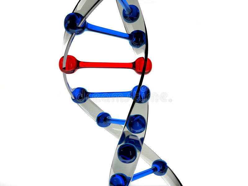 Mutation or error in dna sample royalty free illustration