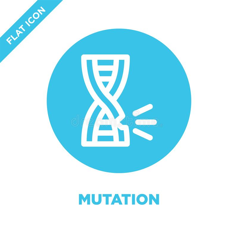 Mutation icon vector. Thin line mutation outline icon vector illustration.mutation symbol for use on web and mobile apps, logo,. Print media royalty free illustration