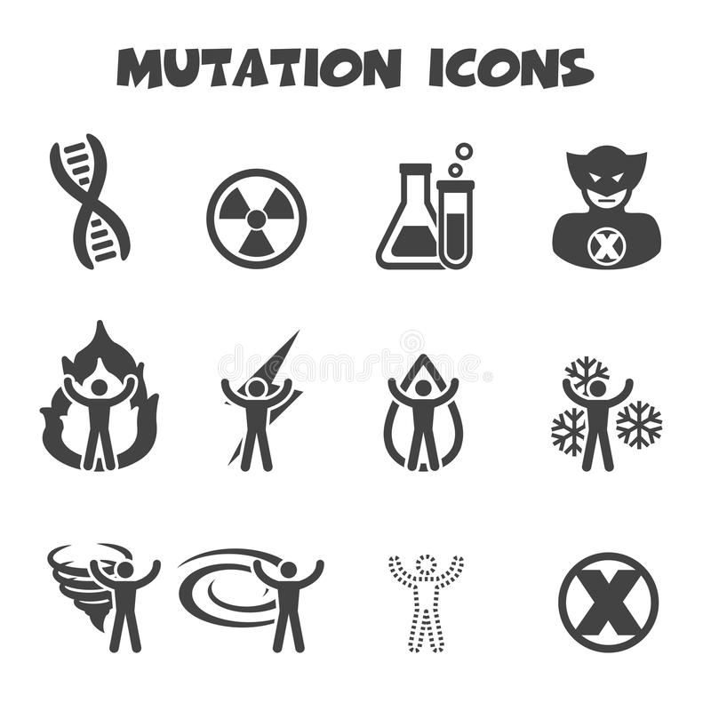 Mutationsymboler stock illustrationer