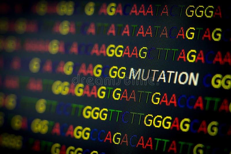 Mutazione di sequenza del DNA immagini stock libere da diritti