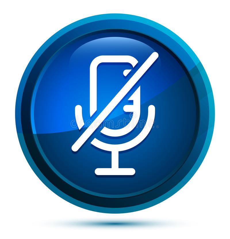 Free Mute Microphone Icon Elegant Blue Round Button Illustration Stock Image - 161243511