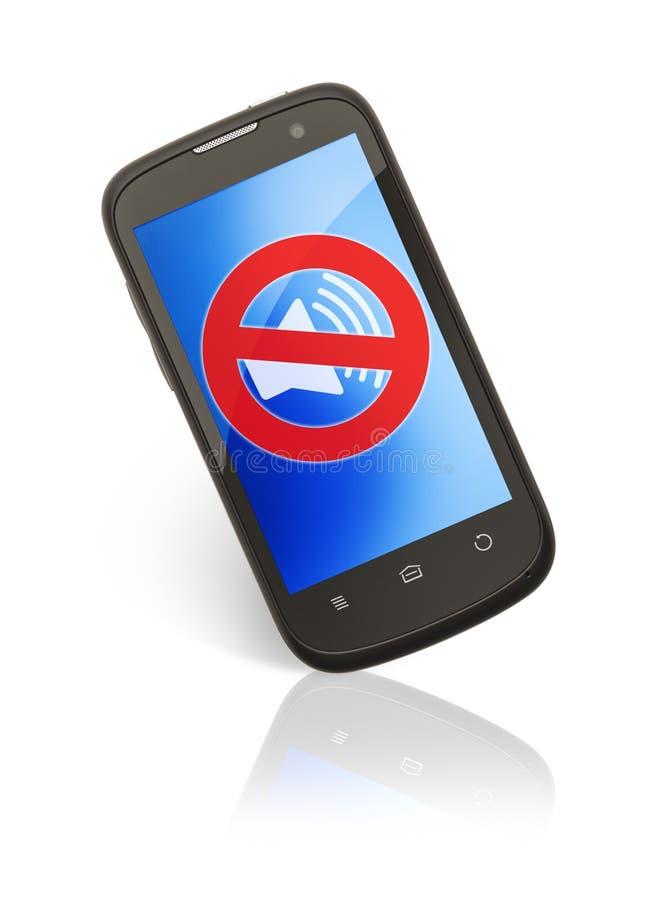 mute phone stock photo