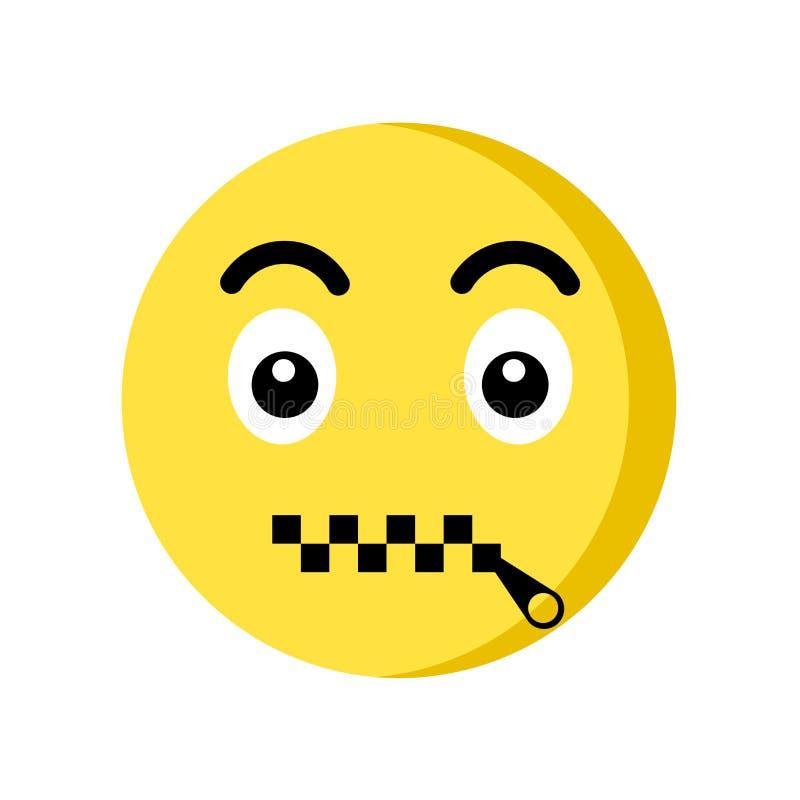Free Muted Emoji Icon Isolated On White Background Stock Photography - 133863742