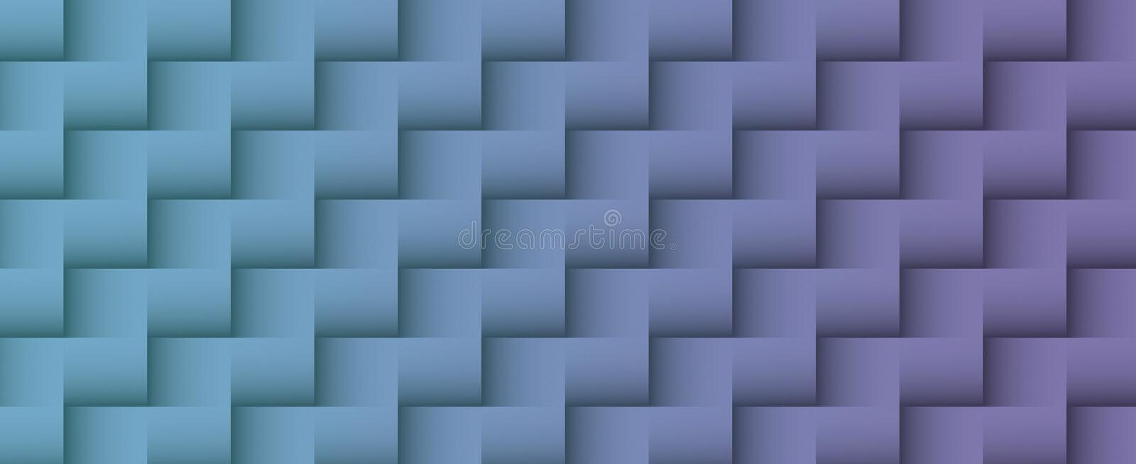 Muted grayish blue and violet purple geometric squares pattern abstract business background illustration vector illustration