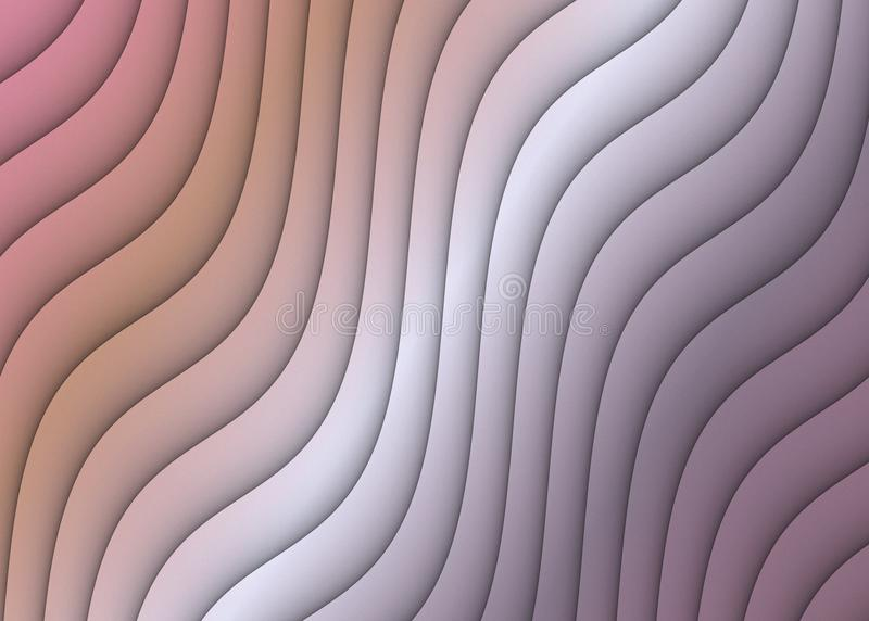 Abstract Ripples Curves Diagonal Design Background Muted Pink Coral Gray Mauve stock image