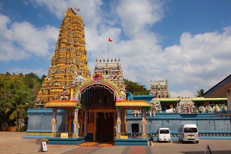 Muthumariamman印度寺庙在马特莱,斯里兰卡 库存图片