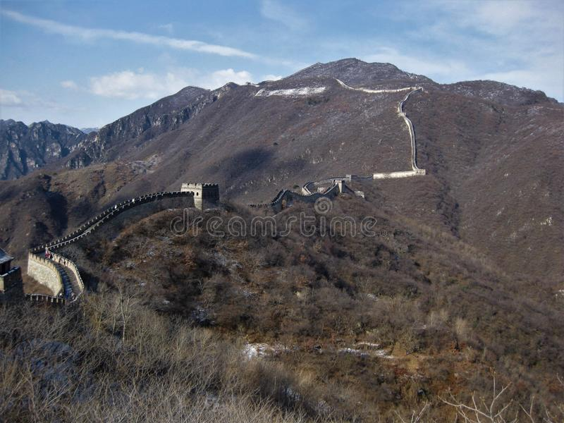 Mutianyu-Abschnitt der Chinesischen Mauer lizenzfreie stockbilder