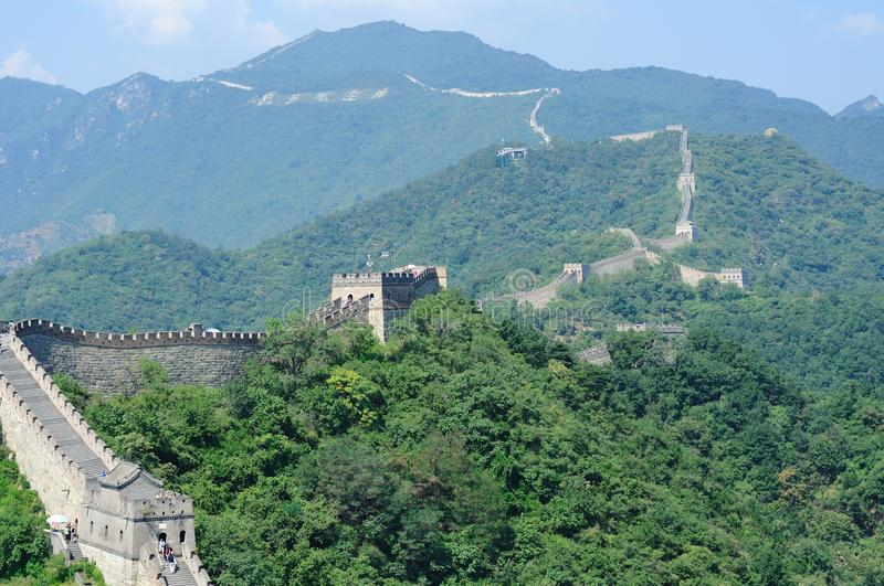 Mutianyu Greatwall of Beijing, China. The Mutianyu Greatwall lies in Huairou, a district located in northeastern Beijing, China royalty free stock image