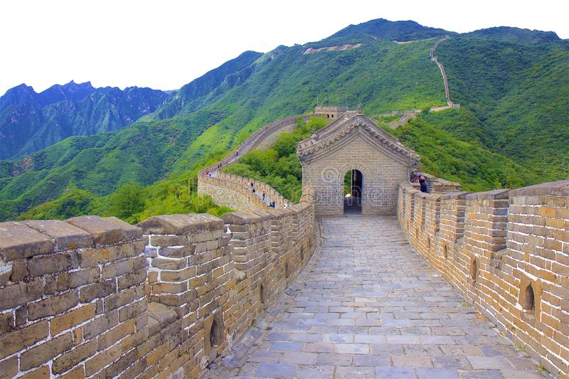 The great wall of China. Mutianyu part of the Great wall of China royalty free stock image