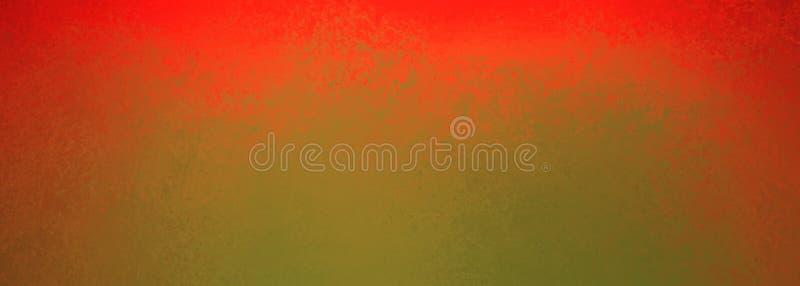 Mutige helle rote Schmutzgrenze auf Olivgrünhintergrund mit glühender drastischer Beleuchtung stock abbildung