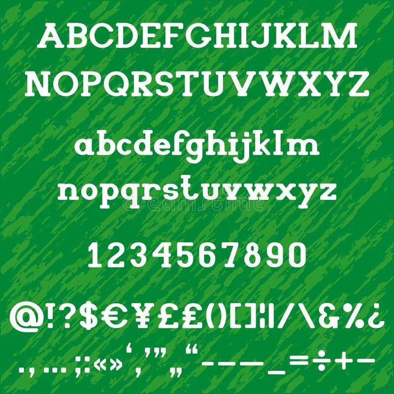Mutiges Alphabet Platte Serif lizenzfreies stockbild