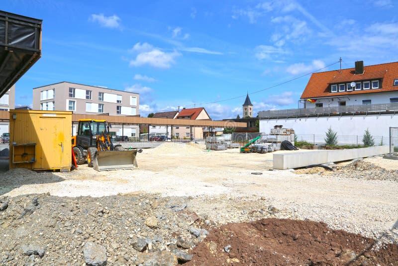 Mutlangen, Allemagne juin 17,2018 : Construction d'un Bu de la communauté images stock