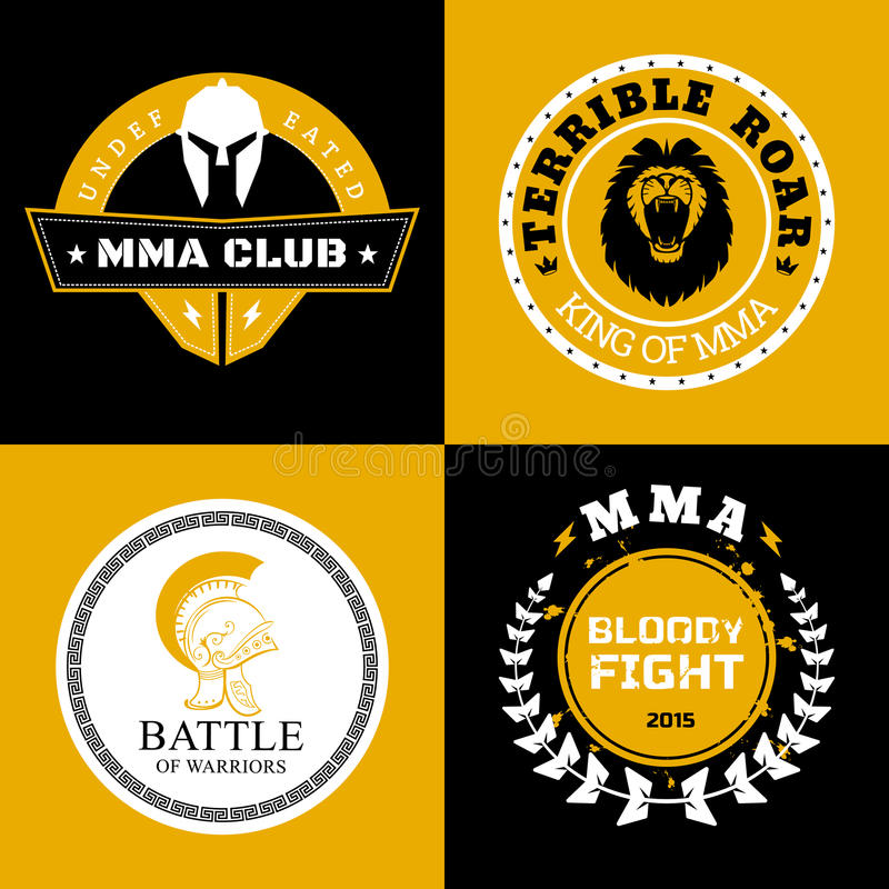 MUTTAHIDA MAJLIS-E-AMAL作战商标或徽章设计 向量例证