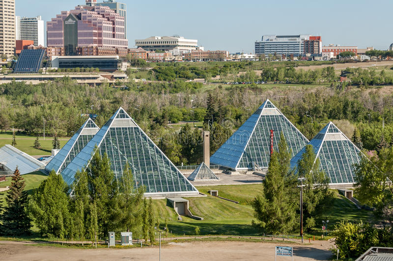 Muttart drivhus, Edmonton arkivfoto