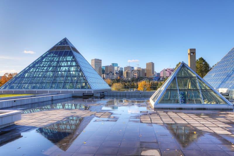 Muttart drivhus i Edmonton, Kanada royaltyfria bilder