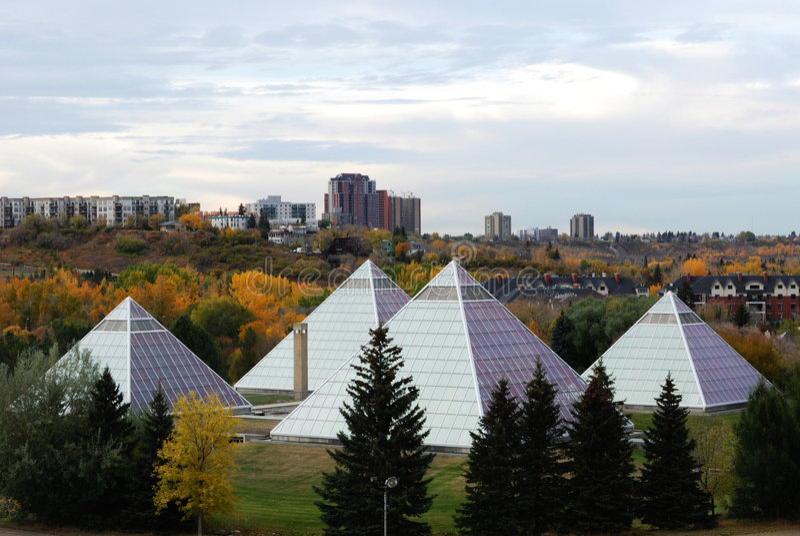 muttart konserwatorium Edmonton obrazy stock