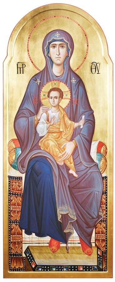 Mutter des Gottes Vergin Mary und Jesus Christ stockfotografie