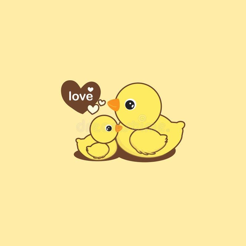 Mutter-Ente und Entlein vektor abbildung