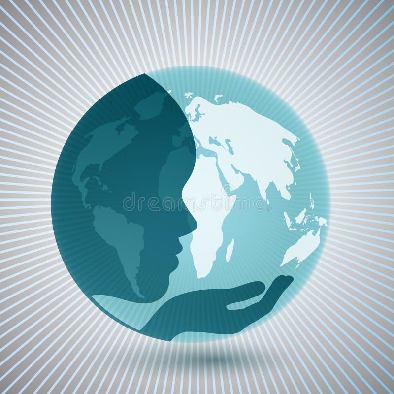 Mutter Erde lizenzfreie abbildung