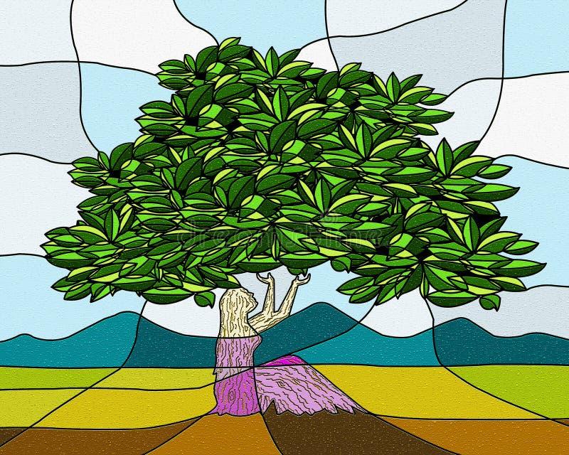 Mutter Erden-Kunst stock abbildung