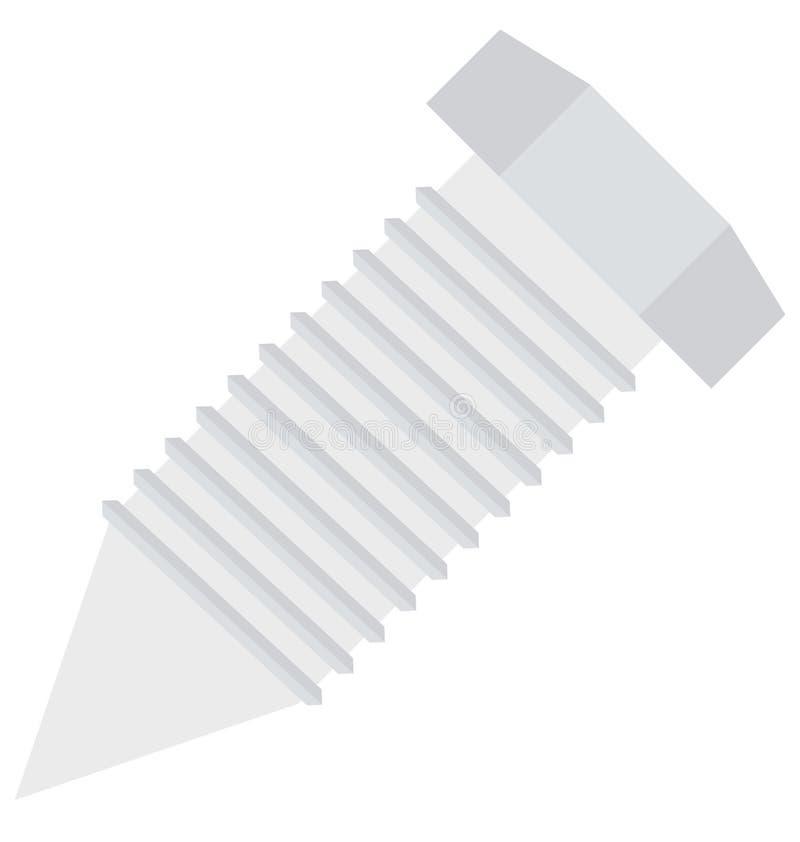 Mutter isolerad vektorsymbol för konstruktion royaltyfri illustrationer