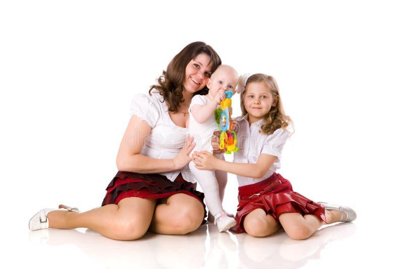 Mutter mit Töchtern stockfotos