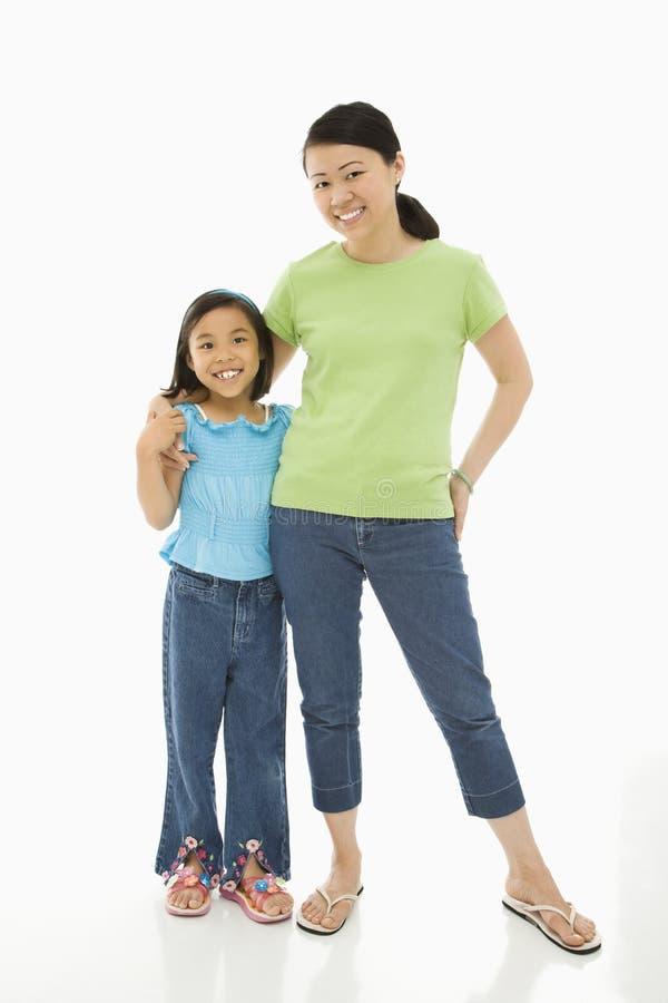 Mutter mit Tochter. lizenzfreie stockbilder