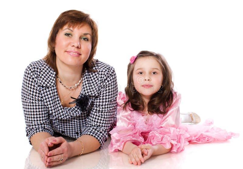 Mutter mit Tochter stockbilder