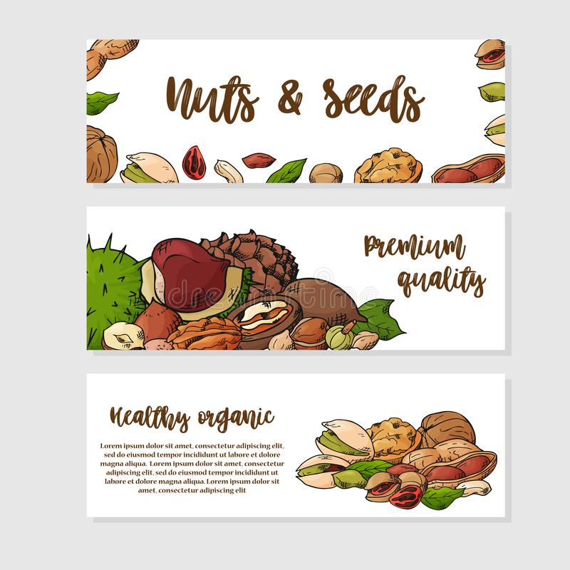 Mutter- och frösamling Hand drog beståndsdelar Reklamblad, häfteadvertizing och design också vektor för coreldrawillustration royaltyfri illustrationer