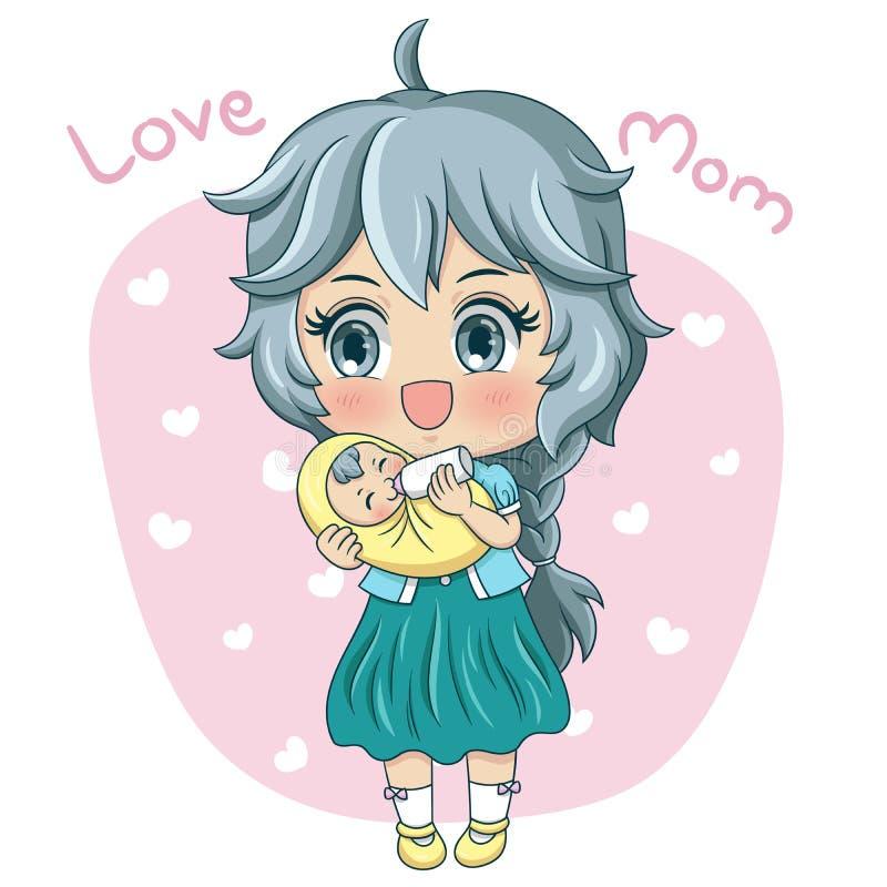 Mutter und Baby_3 vektor abbildung