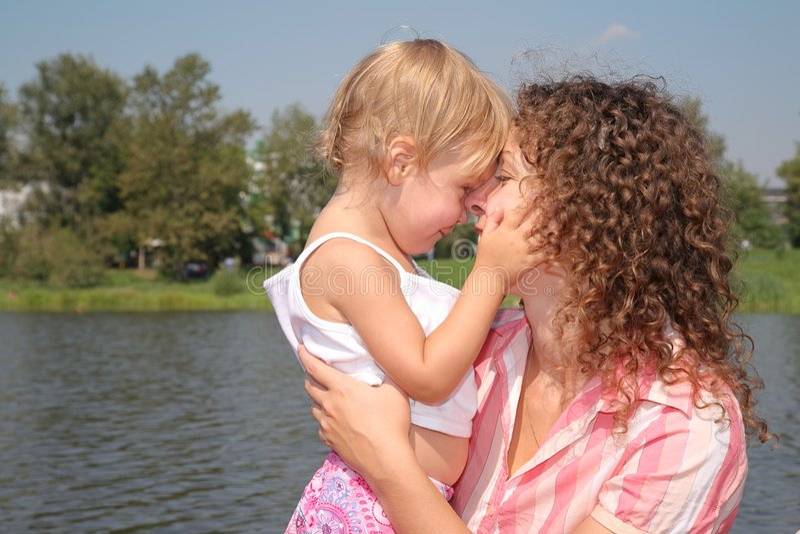 Mutter und die Tochter stockbilder