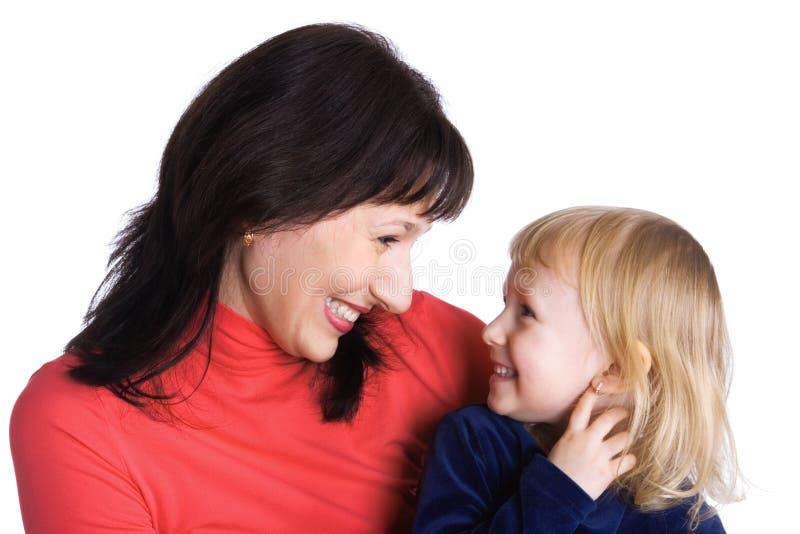 Mutter und die Tochter freuen sich zusammen lizenzfreie stockfotos