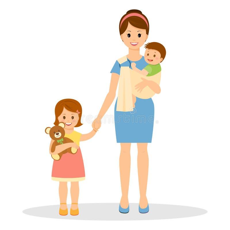 Mutter und ihr Schätzchen vektor abbildung