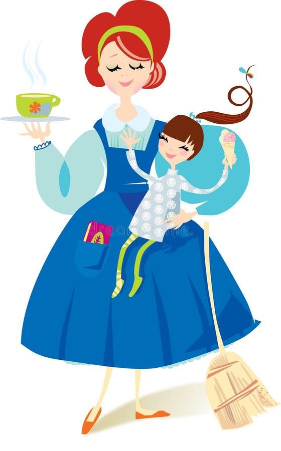 Download Mutter und Kind vektor abbildung. Illustration von mamma - 9078781