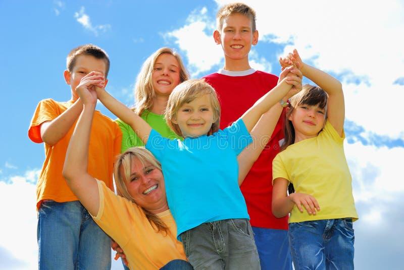 Mutter und Kinder stockfotografie