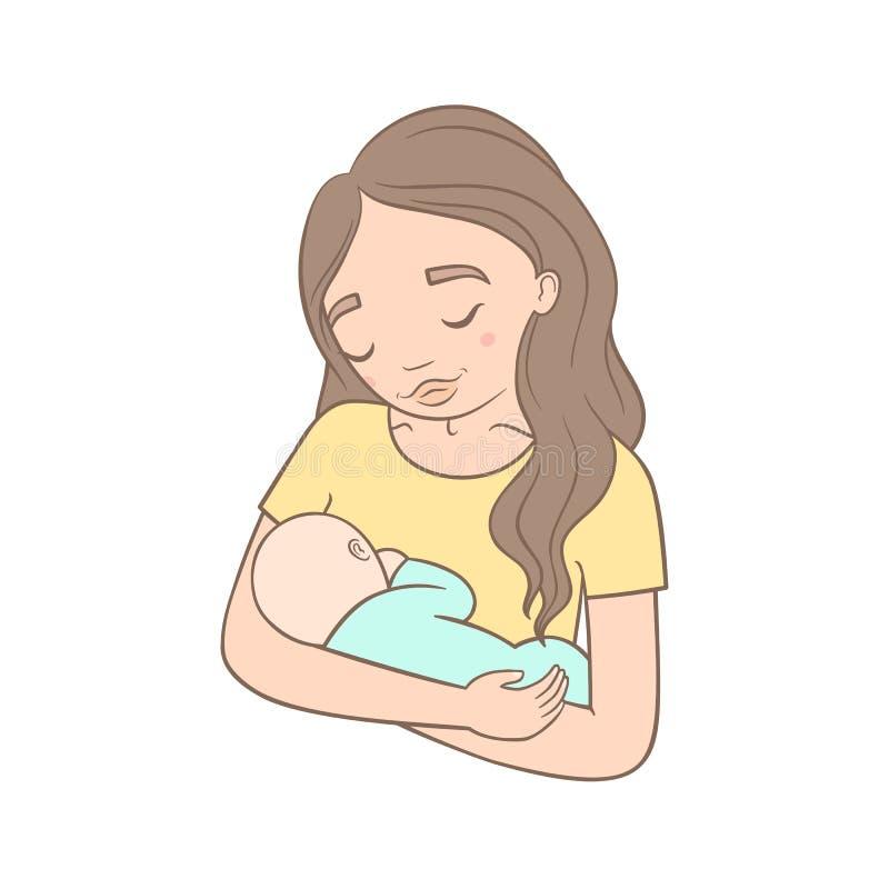 Mutter und neugeborenes Schätzchen vektor abbildung
