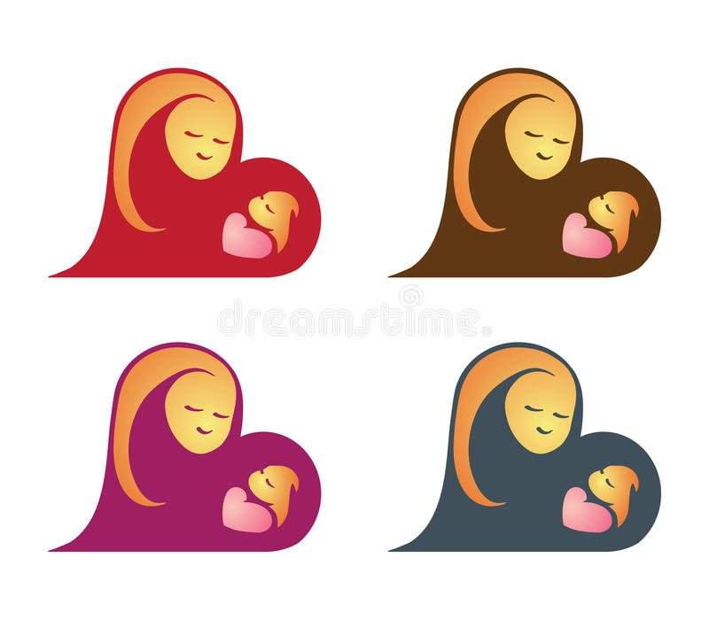 Mutter und Schätzchen vektor abbildung