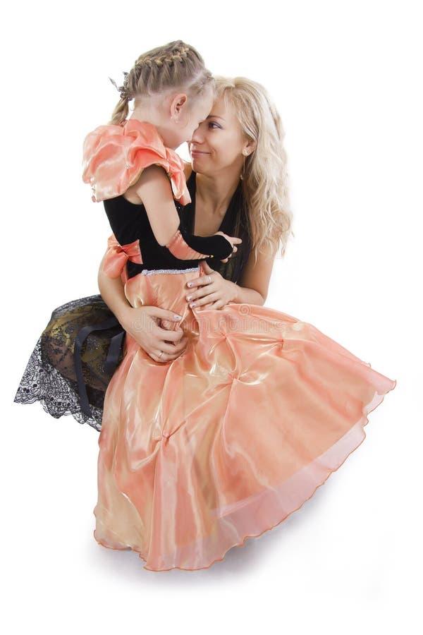 Mutter und Tochter der Prinzessin lizenzfreies stockbild