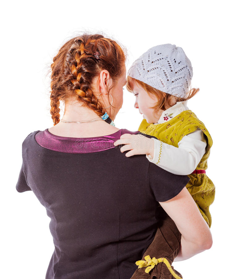 Mutter-und Tochter Geheimnisse lizenzfreie stockfotografie