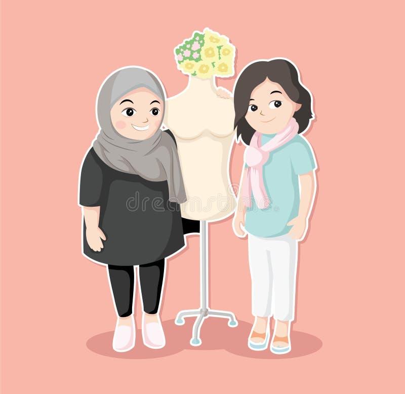 Mutter und Tochter in Mode lizenzfreie stockbilder
