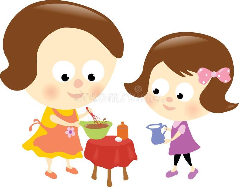 Mutter- und Tochter-Verhältnis stock abbildung