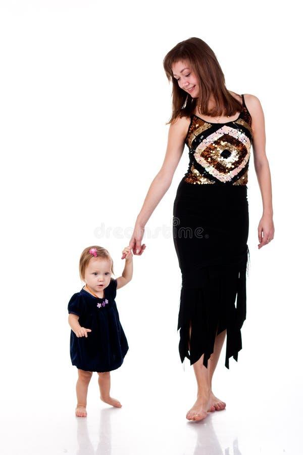 Mutter- und Tochtergehen stockbilder